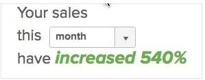 client case study: 540% sales growth