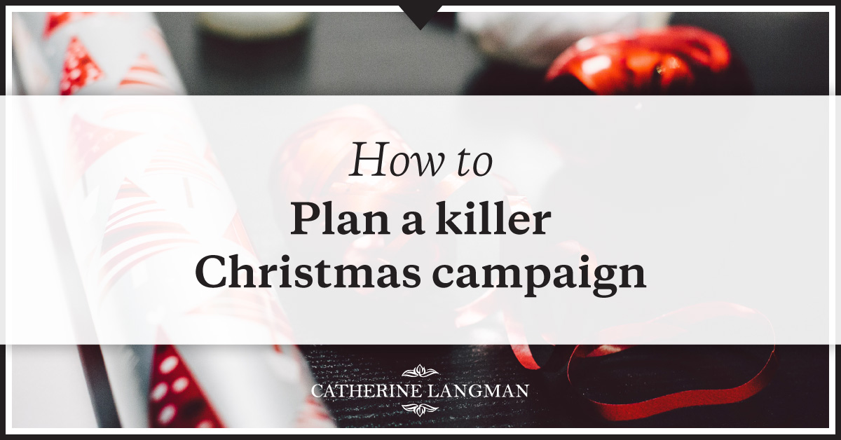 How to plan a Christmas promotion or campaign