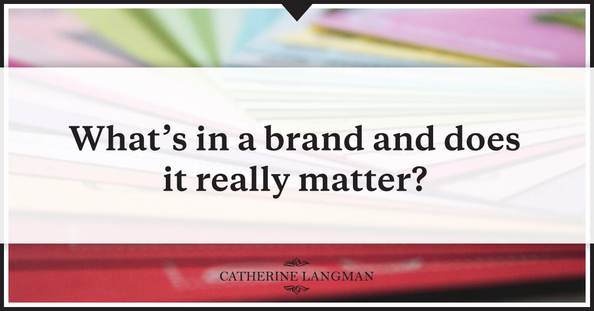 What's in a brand and does it really matter?