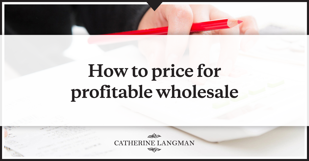 How to price your products for profitable wholesale