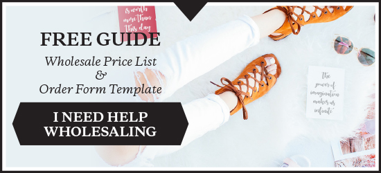 FREE DOWNLOAD: Wholesale Price List & Order Form Template